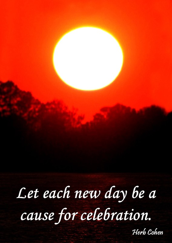 Let each new day be a cause for celebraton