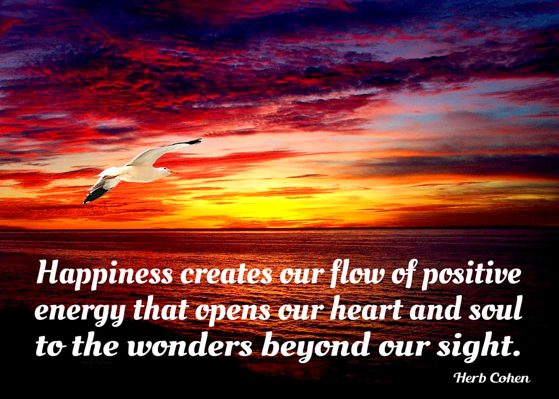 Happiness creates our feelings of positive energy and inspiration for our climb towards the serenity of peace