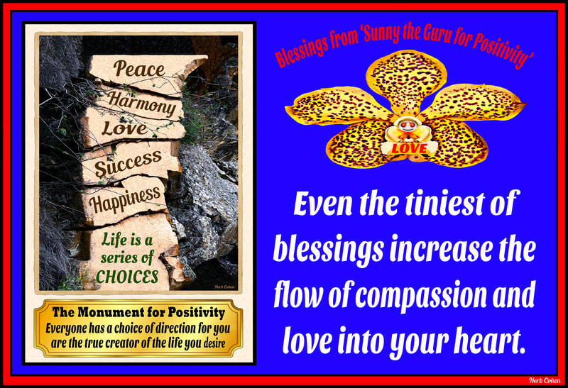 Even the tiniest of blessings increase the flow of love and compassion into your heart.